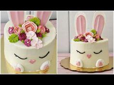 Pastel de conejito de Pascua - YouTube Easter Cake Pops, Easter Bunny Cake, Bunny Party, Easter Cupcakes, Bunny Birthday Cake, Spring Cake, Torta Baby Shower, Animal Cakes, Love Cake
