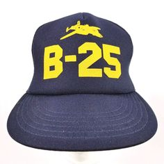 1fcd9c1c190c8 Vintage World War II B-25 Bomber Snapback Trucker Baseball Hat Cap Mesh  Trucker b25