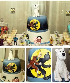 The cake for this Tintin thened party
