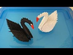 How to make 3d origami parrot cage part1 - YouTube