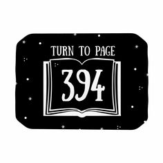 "Jackie Rose ""Turn To Page 394"" Black Pop Art Place Mat"
