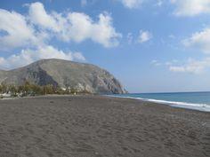 Greece: one of Santorini's black beaches