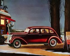 Classic car art, car art prints, toy cars and trucks. Vintage Advertisements, Vintage Ads, V Engine, Ford V8, Old Fords, Old Classic Cars, Pedal Cars, Automotive Art, Ford Motor Company