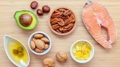 Selection Food Sources Of Omega 3 And Unsaturated Fats Super Heart Healthy Recipes, Healthy Foods To Eat, Healthy Fats, Diet Recipes, Healthy Snacks, Healthy Heart, Health Recipes, Keto Snacks, Nutritious Meals
