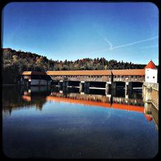 I love this bridge. Only pedestrians and bikers. #soultravels #outdoorgirl #adventuregirl #mindful #munichandthemountains