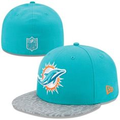 new style b00ee a47dd Mens New Era Aqua Miami Dolphins 2014 NFL Draft 59FIFTY Reflective Fitted  Hat Miami Dolphins Hat