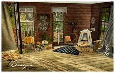 Cozy in Autumn Set (new meshes) This set includes: -Homecrest mid century wire rustic chair -Homecrest chair throw -Homecrest chair cushion -Deco pumpkin large -Deco pumpkin med -Deco pumpkin small -Deco squished pumpkin large -Deco squished pumpkin...
