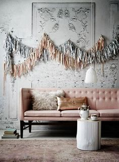 Read Domino's guide to learn how to style your space in the copper and pink color trend. Read ways to incorporate this fall color palette in your interior design with furniture and accents. My Living Room, Home And Living, Living Spaces, Home Interior, Interior And Exterior, Interior Decorating, Interior Ideas, Copper And Pink, Copper Blush