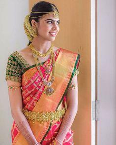 Sparkling South Indian Bride  #Southindianbride