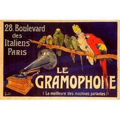 ''Le Gramophone'' by Charles Bombled Vintage Advertising Art Print