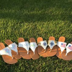 These Jack Roger lookalike sandals are the perfect summer accessory! The can be monogrammed, or sorority letters!! Also available in any Lilly Pulitzer print!