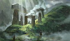 ArtStation - Freelance Set of Environments completed a little while ago for 'Conquered Self' Project, Nathan Elmer Fantasy Art Landscapes, Fantasy Landscape, Landscape Art, Landscape Edging Stone, Landscape Photography, Nature Photography, Dark Fantasy, Fantasy Concept Art, Fantasy Artwork