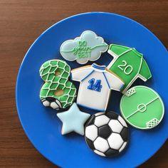 soccer cookies⚽️ ・ #soccer #icingcookies #decoratedcookies #アイシングクッキー #アイシングクッキー教室