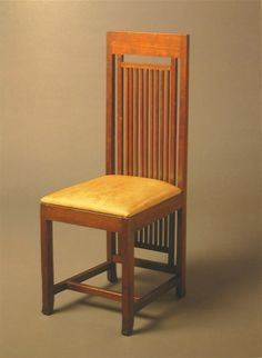 Prairie style side chair. Isabel Roberts House. 1908. River Forest, Illinois. Frank Lloyd Wright.