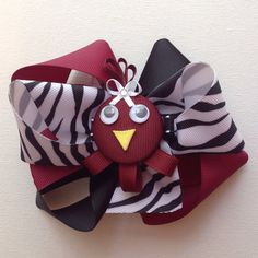 Girl's Toddler's Com-Bow Large Triple Loop Bow by bowtowne on Etsy