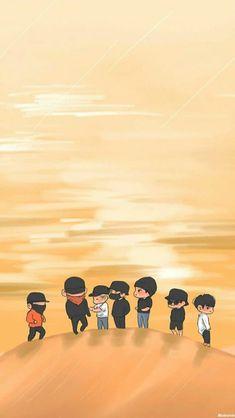 exo in dubai fanart Kpop Exo, Exo Kokobop, Chanyeol, Exo Wallpaper Hd, Chibi Wallpaper, Cartoon Wallpaper, Exo Cartoon, Exo Anime, Exo Album