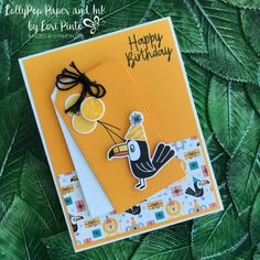 Stampin' Up! Bonanza Buddies Bundle with Birthday Bonanza DSP Happy Birthday with Toucan card by Lori Pinto Mary Fish, Stampin Pretty, Kids Birthday Cards, Birthday Images, Birthday Quotes, Stamping Up Cards, Rubber Stamping, Kids Cards, Baby Cards