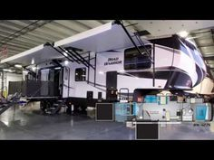 It's Ray here again with another All About RV's video. Check out this new 2020 Heartland Road Warrior fifth wheel Toy Hauler. Fifth Wheel Toy Haulers, Fifth Wheel Campers, Rv Videos, Rv Floor Plans, Heartland Rv, The Road Warriors, Solid Surface Countertops, Side Porch, Toys