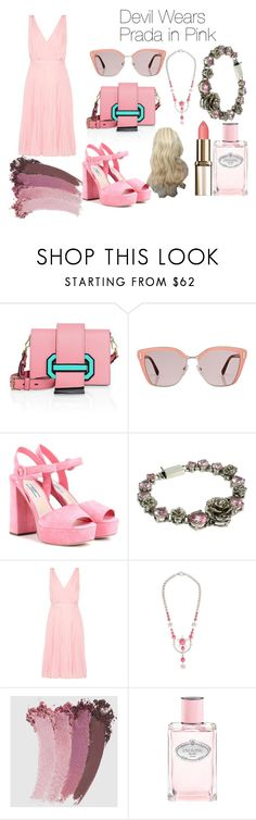 """Devil Wears Prada- Pink"" by cray-crayreeny ❤ liked on Polyvore featuring Prada, Miu Miu and Gucci"