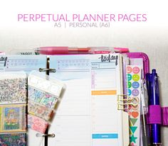 Perpetual Planner Pages free printables #filofax #planner
