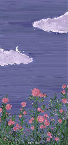 Cute Pastel Wallpaper, Flower Phone Wallpaper, Soft Wallpaper, Anime Scenery Wallpaper, Cute Patterns Wallpaper, Iphone Background Wallpaper, Purple Wallpaper, Aesthetic Pastel Wallpaper, Kawaii Wallpaper