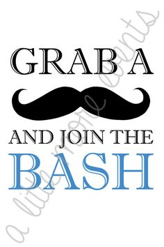 "Little Man/Mustache Party - ""Grab a Stache and Join the Bash!"""