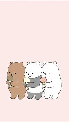Ig Kwaiuniverse Kawaii Wallpaper Pastel Feed Cute pertaining to W We Bare Bears Wallpapers - All Cartoon Wallpapers Wallpaper Kawaii, Cute Panda Wallpaper, Wallpaper Iphone Disney, Cute Disney Wallpaper, Animal Wallpaper, Polar Bear Wallpaper, Aztec Wallpaper, Drawing Wallpaper, Pink Wallpaper