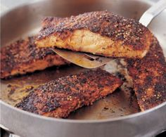 Salmon with Cajun Blackening Spices