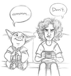 Hey, Dan. What's up, Yoda? I have a funny joke for you… Do you? Do you now? Today's Game Grumps was really something else. x