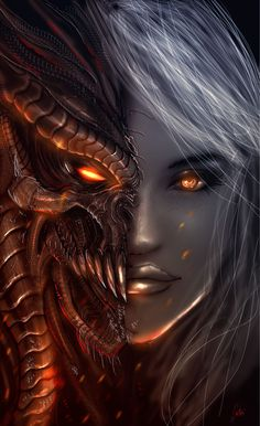 ♔ Dragon♔ Born♔ დ╭დ༺♥༻•*¨*•¸¸.• ~♕ Manon and Abraxos