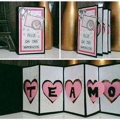 Olá amores!! Meu cartão de dia dos namorados está pronto  Achei esse tão meigo e criativo. . . . . . #inlove #criatividade #arte #biasanttosz #mimo #criar #arteemfoco #love #romantic #artista #namoradacriativa #heart #amor #surpresa #supernamorada #EuQueFiz #diy #card #diadosnamorados #scrap #papercraft #valentinesday #diadosnamorados #feitoamao #blognamoradacriativa  #tarjetaacordeon #card  #scrapbooking #teamo
