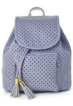 powder puff purple backpack