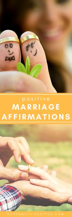34 Positive Marriage Affirmations for Couples to help you and your spouse focus on the type of happy marriage you want to have.