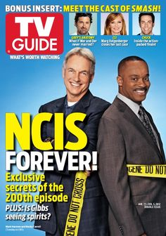 The #NCIS200 TV Guide Magazine cover - 1 of 3! Mark Harmon & Rocky Carroll.