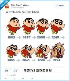 La evolución de Shin Chan por @ShinChanVideos   Gracias a http://www.vistoenlasredes.com/   Si quieres leer la noticia completa visita: http://www.estoy-aburrido.com/la-evolucion-de-shin-chan-por-shinchanvideos/