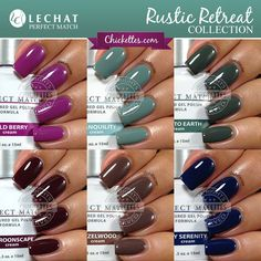 LeChat Rustic Retreat Collection Swatches by Chickettes.com