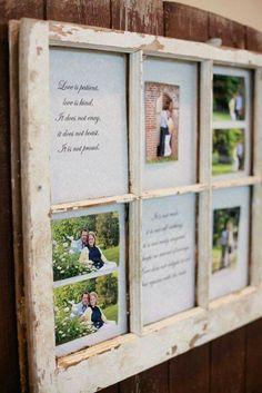 Window frame = photo frames