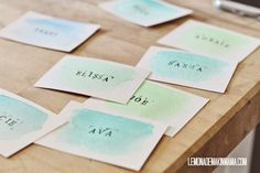 Lemonade Makin' Mama: My heart... and a watercolor placecard DIY