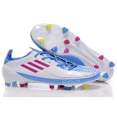 new style 07cd7 8444b Adidas F50 Adizero II prime FG Blanc Bleu Rose Football, Footwear, Messi,  Rose