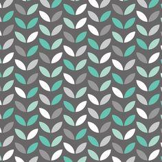 Stoff Blumen - Camelot Mint Condition Baumwolle - ein Designerstück von MYO_Baby bei DaWanda