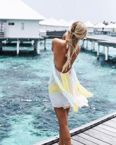 ".  . Simone | Düsseldorf ❥ on Instagram: ""ocean breeze  #diamondsthudufushi #maldives #ootd #bonbon """