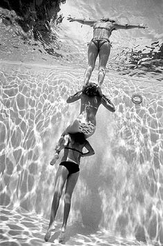 Fun summer swimming with the girls; just being girls. :)
