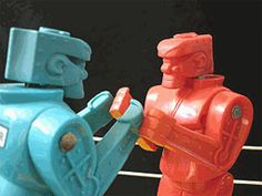 I learned all of my fighting technique from Rock Em Sock Em Robots.