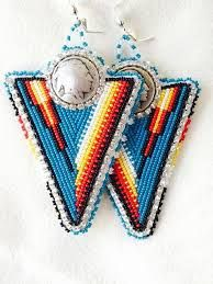 Image result for native american beaded feather earrings