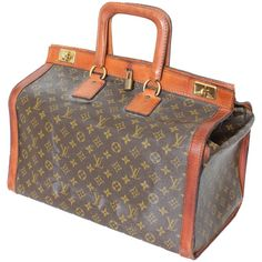 fed0066327f9 Rare Louis Vuitton Doctors Bag Steamer Tote Keepall Vintage 50s Monogram  Canvas