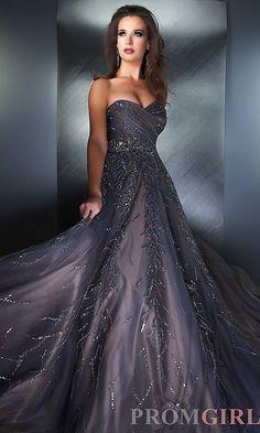 Elegant Strapless Sweetheart Gown