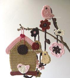 Crochet Birdhouse Garland pattern for sale