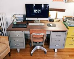 IDENTICAL TO MY industrial Shaw Walker desk!!!