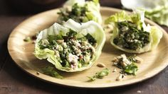 BBC Food - Recipes - Nice and spicy Thai minced chicken salad (Larb Gai)