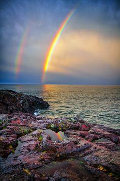 Double Rainbow by Susanne von Schroeder on Capture Minnesota // at the north shore